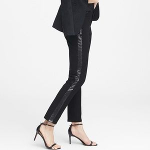 Banana Republic Black Sequin Stripe Sloan Pants